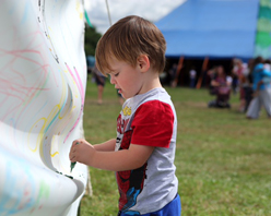 Kids Arts Tent at Barefoot Festival™ 2017