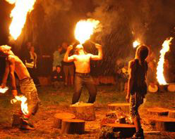 Combust UK Big Burn Fire Show at Barefoot Festival 2021